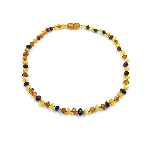 Natur Bernstein Kette Halskette Echte Baltische Bernstein Länge 34 cm - Zertifiziert Baltischer Bernstein Perlen