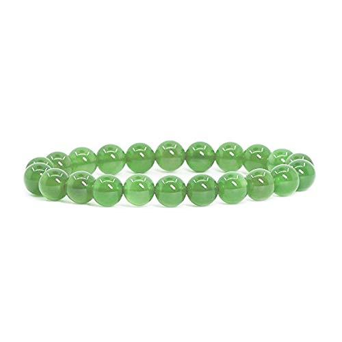 Emilys Gems Kraft - Power - Chakra Armbänder | Dehnbar | 8mm Naturstein - Für Ihr Wohlbefinden - Jade