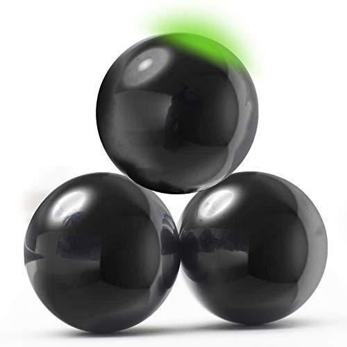 myHodo Stresskiller Magnetkugeln XXL Magnetic Balls, extra große Kugelmagnete 33mm, Anti Stress Magnete aus Hämatit Heilstein für Magnettherapie, Technik Büro Gadget, Geschenkidee ideales Geschenk
