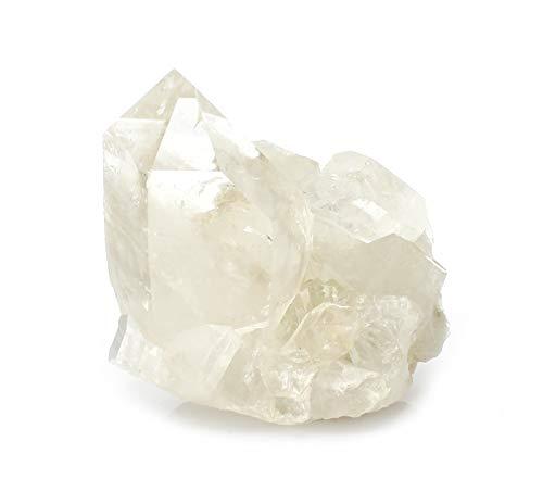 Budawi® - Bergkristall Stufe mit großer Bergkristallspitze Dekospitze naturbelassen