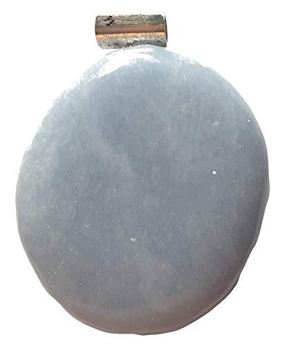 KRIO® - schöner großer Anhydrit/Angelit Anhänger mit Silberöse