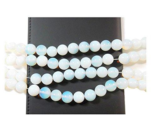 MONDSTEINE 10mm Perlen Edelstein Halbedelstein RUND Beads Gem New AZD90B