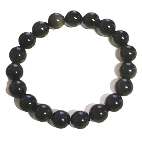 Regenbogen-Obsidian 10 mm Kugel-Armband...