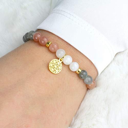 LEBENSBLUME Armband Frauen aus echtem...