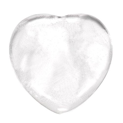 Morella Edelstein Bergkristall Herz Glücksbringer Steinherz zum Mitnehmen 3 cm in Samtbeutel