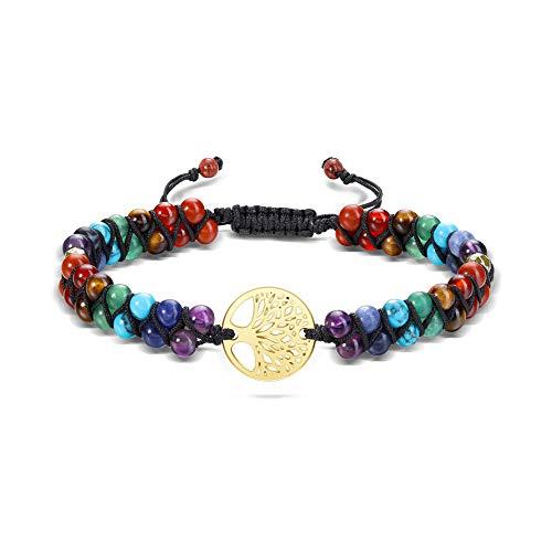JSDDE 7 Chakra Armband Perlenarmband aus...