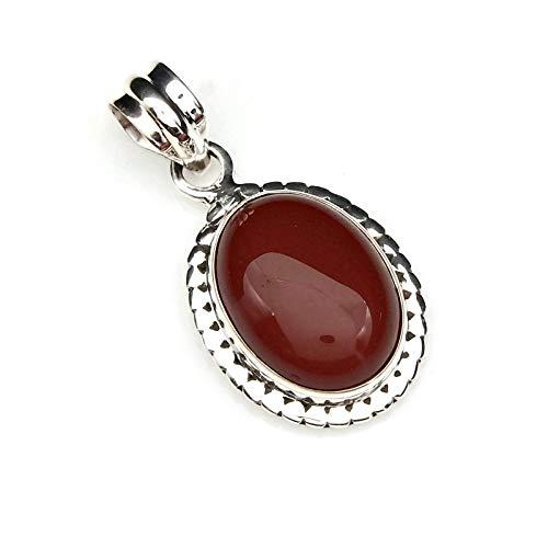 Kettenanhänger Amulett Silber 925 Sterlingsilber Karneol orange rot Stein (Nr: MAH 123-16)