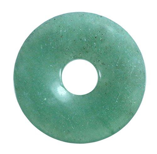 Lebensquelle Plus Aventurin grün Edelstein Donut Ø 30 mm Anhänger