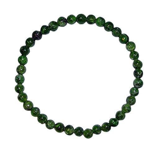 Diopsid grün Armband 5 mm Ø Kugel auf elastischem Band (4241)