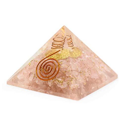 Orgon Pyramide Rosenquarz Blume des Lebens (40 mm)