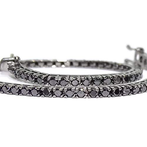 Never Say Never Riviere-Armband mit Diamanten und 18-karätigem Weißgold, mit weißen Diamanten oder schwarzen Diamanten. Für Damen und Herren.