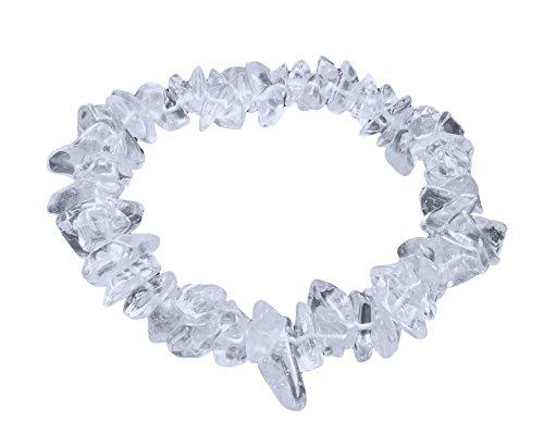 Lebensquelle Plus Bergkristall Splitterarmband   Echter Bergkristall   Hochwertiges Edelstein Armband