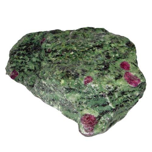 Rubin Zoisit Rohstein Rohstück gute Steinquailität mit schönen rotem Rubin faustgroß ca. 1 - 1,5 kg.(3484)