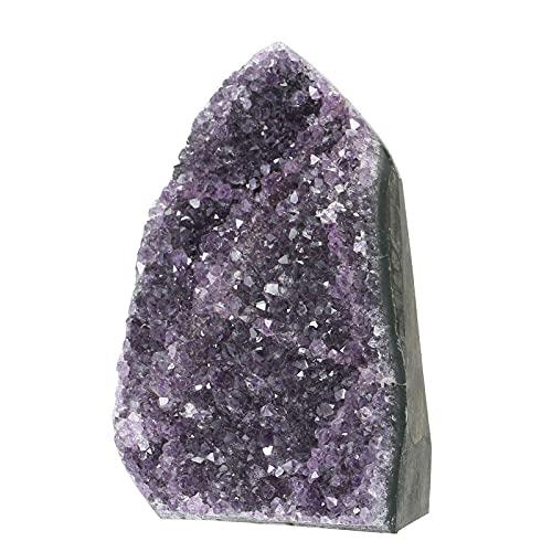 Roeam Amethyst Stein, Natürlicher Amethyst Crystal Geode Cluster Heilstein, Edelsteine Deko für Schlafzimmer und Büro