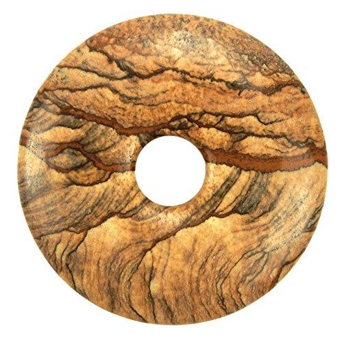Lebensquelle Plus Landschaftsjaspis Edelstein Donut Ø 40 mm Anhänger