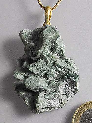 Apophyllit Schmuck Edelstein - Halbedelstein Anhänger 925 Silber