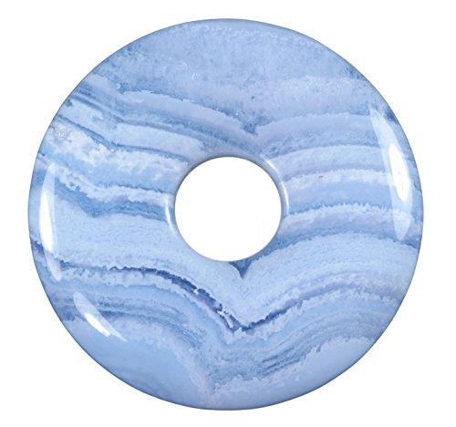 Lebensquelle Plus Blauer Chalcedon Edelstein Donut Ø 30 mm Anhänger