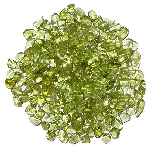 Peridot - Olivin 250 g mini Edelsteine Trommelsteine Größe ca. 2-4 mm schöne Farbe