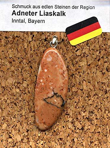 Calcit Schmuck Edelstein - Halbedelstein Anhänger 925 Silber