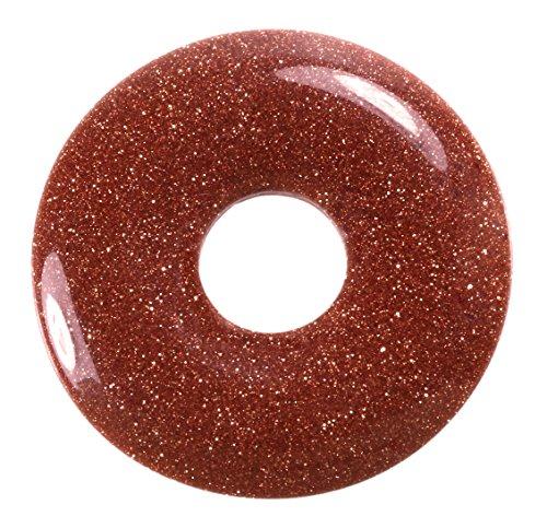 Lebensquelle Plus Goldfluss Edelstein Donut Ø 30 mm Anhänger